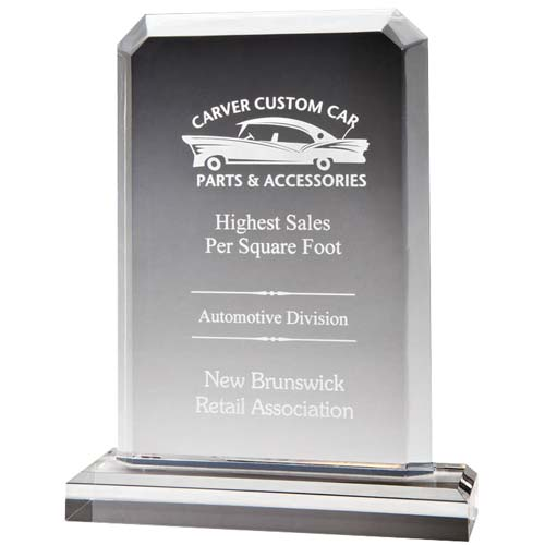 Beveled Peak Acrylic Desk Award