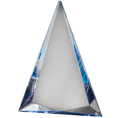 Blue Triangle Acrylic Desk Award