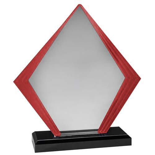 Red Diamond Acrylic Desk Award