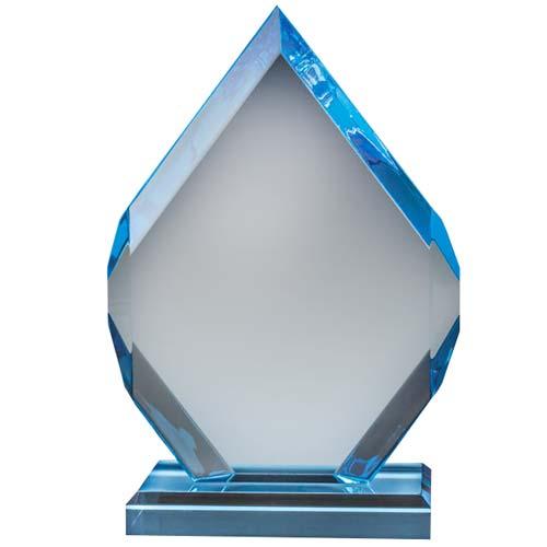 Sapphire Diamond Acrylic Desk Award