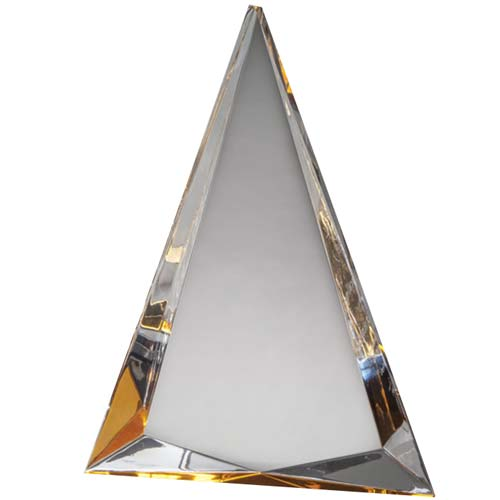 Topaz Triangle Acrylic Desk Award