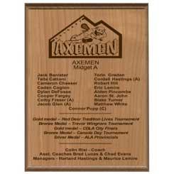 Classic Maple Wood Plaque