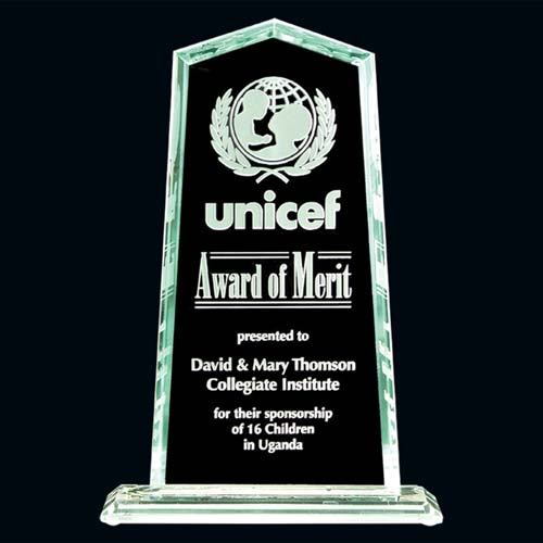 Banff Glass Desk Award