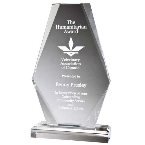 Beveled Diamond Acrylic Desk Award