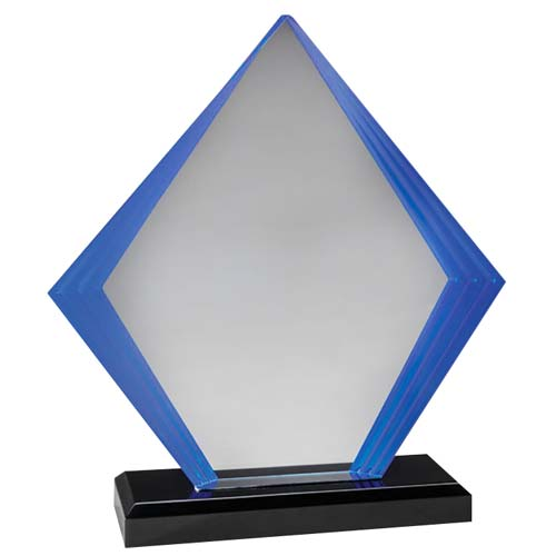 Blue Diamond Acrylic Desk Award