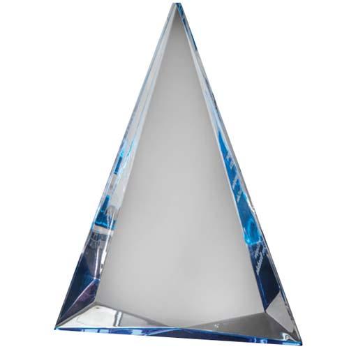 Blue Triangle Acrylic Desk Award