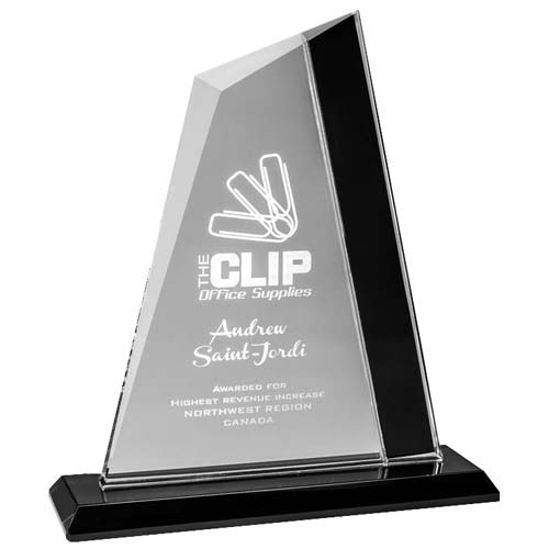 Chrome Straight Desk Award