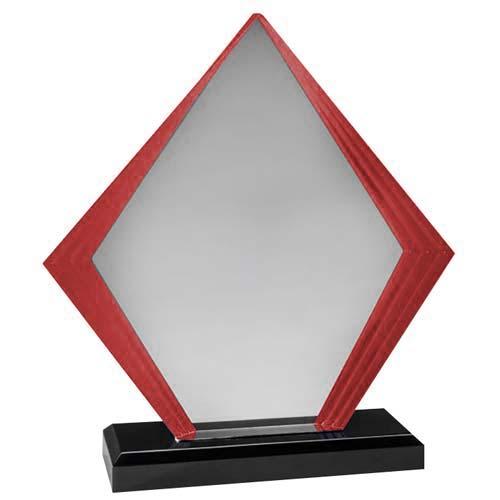 Red Diamond Acrylic Desk Award
