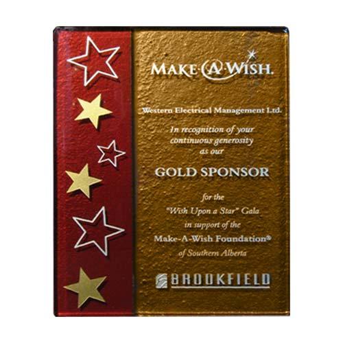 2 color plaque handmade desk award